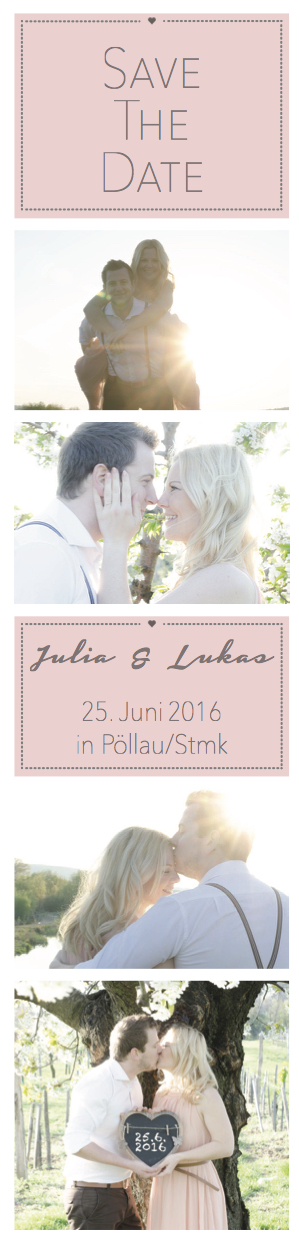 save the date - Julia & Lukas